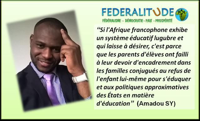 SY Amadou, L'Afrique francophone et la problématique de l'éducation